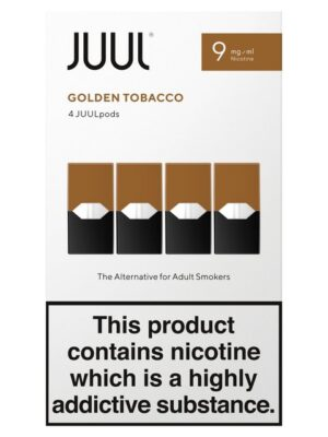 JUUL PODS GOLDEN TOBACCO 8 BOXES