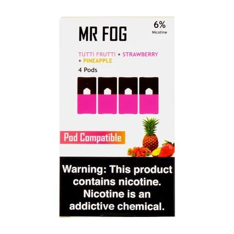 Mr Fog Tutti Frutti Strawberry Pineapple 4 Pods
